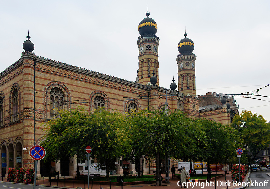 Große Synagoge, Dóhany utca Zsinaóoga, Budapest, Ungarn