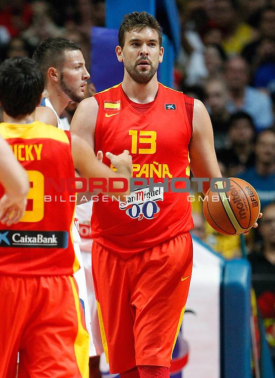 Spain's Marc Gasol during friendly match.August 23,2012. Foto © nph / Acero)