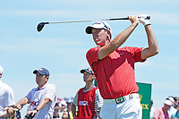 Mickey DeMorat (USA) tees off on the first hole during the third round of the 118th U.S. Open Championship at Shinnecock Hills Golf Club in Southampton, NY, USA. 16th June 2018.<br /> Picture: Golffile | Brian Spurlock<br /> <br /> <br /> All photo usage must carry mandatory copyright credit (&copy; Golffile | Brian Spurlock)