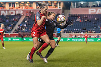 Bridgeview, IL - Saturday March 31, 2018: Katherine Reynolds, Danielle Colaprico during a regular season National Women's Soccer League (NWSL) match between the Chicago Red Stars and the Portland Thorns FC at Toyota Park.