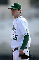 February 20, 2009:  Pitcher A.J. Achter (35) of Michigan State University during the Big East-Big Ten Challenge at Jack Russell Stadium in Clearwater, FL.  Photo by:  Mike Janes/Four Seam Images