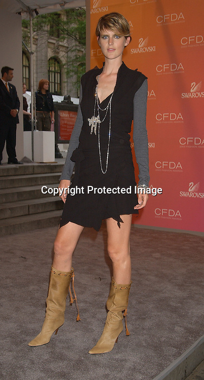 model Stell Tennant                                              ..at the CFDA Fashion Awards on June 2,2003 at the ..New York Public Library. Photo by Robin Platzer, Twin Images