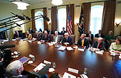 United States President Donald J. Trump speaks to the media during a cabinet meeting at the White House on November 20, 2017 in Washington, D.C. President Trump officially designated North Korea as a state sponsor of terrorism. <br /> Credit: Kevin Dietsch / Pool via CNP