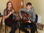 Orla Brannigan and Coinneach Farrell at the Comhaltas Trad na Samhna show held in the Barbican Centre. Photo:Colin Bell/pressphotos.ie