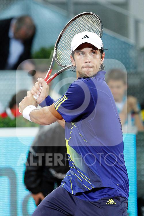 Fernando Verdasco during Tennis Madrid Open match, May 13,2010..(ALFAQUI/Alex Cid-Fuentes)