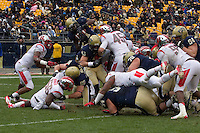Pitt running back Ray Graham scores on a one yard run. The Pitt Panthers defeat the Rutgers Scarlet Knights 27-6 on Saturday, November 24, 2012 at Heinz Field , Pittsburgh, PA.