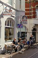 Einkaufstraße Hüxstraße in Lübeck, Schleswig-Holstein, Deutschland