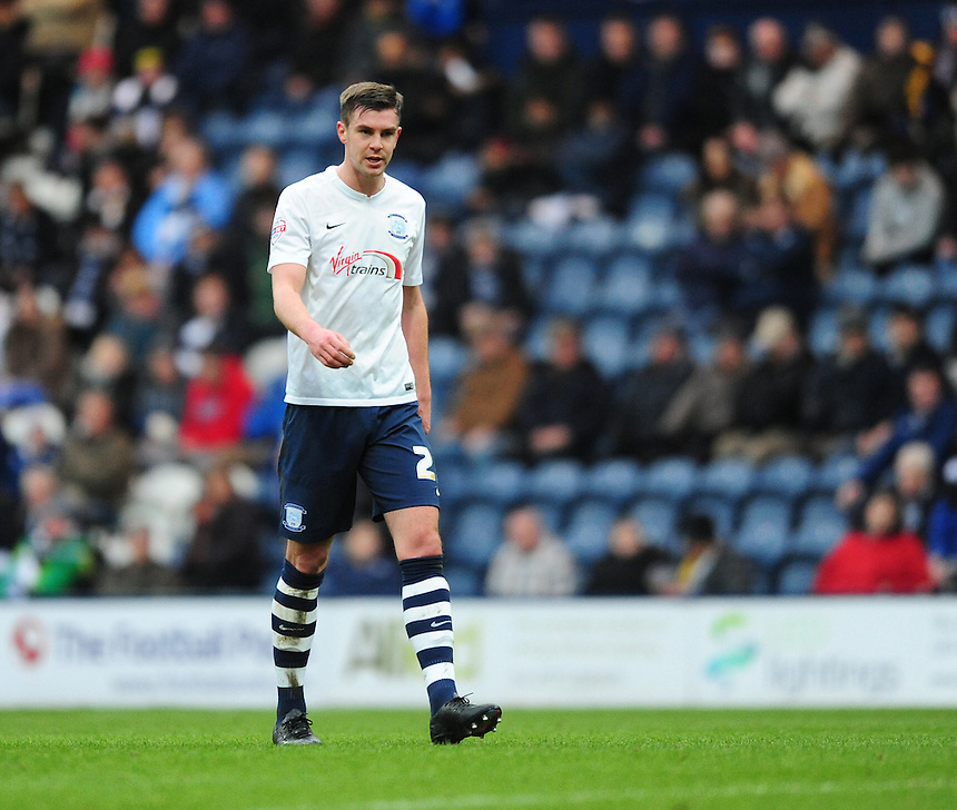 Preston North End's Paul Huntington<br /> <br /> Photographer Chris Vaughan/CameraSport<br /> <br /> Football - The Football League Sky Bet Championship - Preston North End v Brentford - Saturday 23rd January 2016 -  Deepdale - Preston<br /> <br /> &copy; CameraSport - 43 Linden Ave. Countesthorpe. Leicester. England. LE8 5PG - Tel: +44 (0) 116 277 4147 - admin@camerasport.com - www.camerasport.com