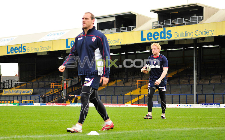 PICTURE BY SIMON WILKINSON/SWPIX.COM - Rugby League - Gillette 4 Nations 2011- England Training Session - Headingley Stadium, Leeds, England - 18/11/11 - England's James Graham during his last England training session before his move to Australia to play in the NRL for the Canterbury Bulldogs.