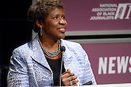 "January 26, 2012  (Washington, DC)  PBS ""Washington Week"" host Gwen Ifill speaks after her induction to the 2012 National Association of Black Journalists (NABJ) Hall of Fame, during a ceremony at the Newseum in Washington.  (Photo by Don Baxter/Media Images International)"