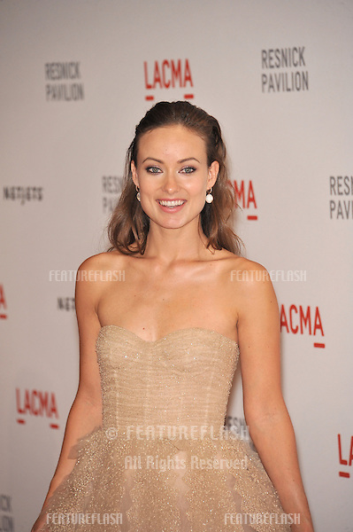 "Olivia Wilde at a benefit gala at the Los Angeles County Museum of Art (LACMA) to celebrate the official ""unmasking"" of the museum's newest building, The Lynda and Stewart Resnick Exhibition Pavilion..September 25, 2010  Los Angeles, CA.Picture: Paul Smith / Featureflash"