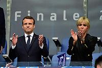 Emmanuel Macron - president de la Republique sa femme Brigitte<br /> <br /> Parigi 27-05-2017 Stade de France <br /> Angers - Paris Saint Germain PSG Finale Coppa di Francia 2016/2017  <br /> Foto JB Autissier/ Panoramic/insidefoto