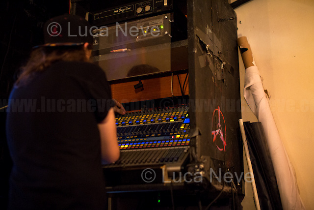 London, 23/07/2016. Documenting the performance of the Poet Lee Harris accompanied by Ben River (Electronics) &amp; Paul Bangash (Guitar) at the Mau Mau Bar in Portobello, &quot;An evening of music, magick, wit, words &amp; high weirdness&quot;.<br />