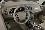 High angle dashboard view of a 2009 Dodge journey rt