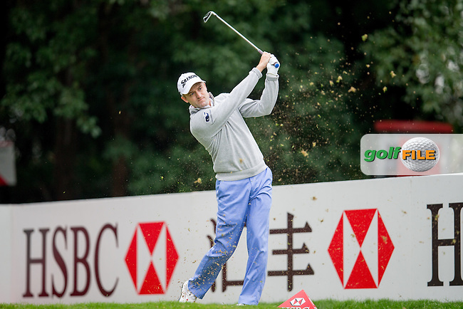 Russell Knox (SCO) on the 4th tee during round 2 at the WGC-HSBC Champions, Sheshan International GC, Shanghai, China PR.  28/10/2016<br /> Picture: Golffile | Fran Caffrey<br /> <br /> <br /> All photo usage must carry mandatory copyright credit (&copy; Golffile | Fran Caffrey)
