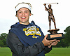 Melanie Green of Medina poses for a portrait after winning her second straight NYSPHSAA girls golf state championship tournament at Bethpage State Park's Yellow Course on Sunday, June 3, 2018.