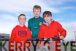 Darragh Hynn, Jack Dolan and James Lynch enjoying the Fenit Coastal Cycle in aid of St. Brendan's NS on Saturday