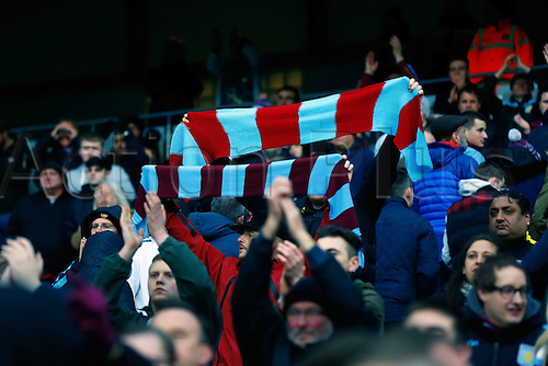 05.03.2016. The Etihad, Manchester, England. Barclays Premier League. Manchester City versus Aston Villa. Villa fans look dejected after losing 4-0