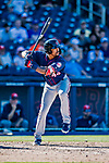 2 March 2019: Minnesota Twins outfielder Jaylin Davis at bat during a Spring Training game against the Washington Nationals at the Ballpark of the Palm Beaches in West Palm Beach, Florida. The Twins fell to the Nationals 10-6 in Grapefruit League play. Mandatory Credit: Ed Wolfstein Photo *** RAW (NEF) Image File Available ***