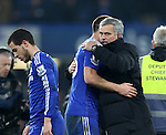 Chelsea's Jose Mourinho celebrates with John Terry at the final whistle<br /> <br /> Barclays Premier League- Chelsea vs Everton  - Stamford Bridge - England - 11th February 2015 - Picture David Klein/Sportimage