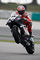 February 5, 2010 - Kuala Lampur, Malaysia - American rider Nicky Hayden (Ducati Marlboro) powers his bike for testing on Sepang International Circuit on February 5, 2010. (Photo Andrew Northcott/Nippon News)