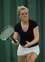 10-3-06, Netherlands, tennis, Rotterdam, National indoor junior tennis championchips, Kim van der Horst