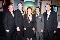 Repro Free from left to right: Pat Dawson CEO ITAA, Gonzalo Ceballos Director Spanish Tourist Office, Claire Dunne President ITAA, Antonio Martin-Machuca Andalusia tourist Board and Francisco Tarifa Vice President Granada Tourist Board. Travel Extra,Travel Journalist of the Year Awards at the Thomas Prior House Ballsbridge. The event which was sponsored by The Spanish Tourist board gave out 12 awards for different catagories. This year saw a huge increase in the number of submissions from previous years, displaying the creativity and continuning innovation of travel and tourism journalism in Ireland. Collins Photos 25/1/13