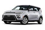 Stock pictures of low aggressive front three quarter view of 2020 KIA Soul S 5 Door Hatchback Low Aggressive