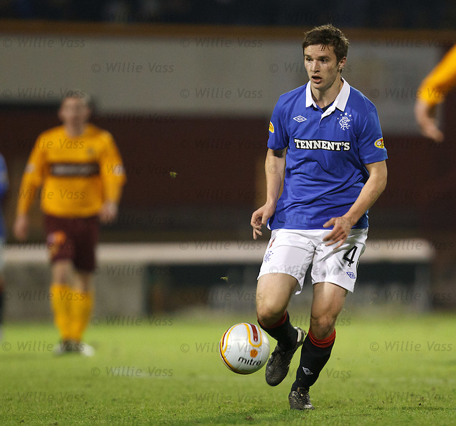Jamie Ness on the attack for Rangers