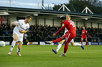 O's Josh Koroma scores his 2nd goal to make it 1.3 during AFC Fylde vs Leyton Orient, Vanarama National League Football at Mill Farm on 3rd November 2018