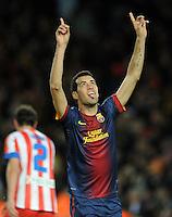 Sergio Busquets ( FC Barcelone ) .Football Calcio 2012/2013.La Liga Spagna.Foto Panoramic / Insidefoto .ITALY ONLY