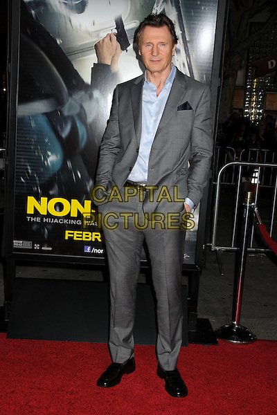 LOS ANGELES, CA - FEBRUARY 24 - Liam Neeson. &quot;Non-Stop&quot; Los Angeles Premiere held at the Regency Village Theatre. <br /> CAP/ADM/BP<br /> &copy;Byron Purvis/AdMedia/Capital Pictures