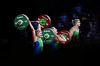 Faye Pittman of Wales competes in the Women's 69kg Final. Gold Coast 2018 Commonwealth Games, Weightlifting, Gold Coast, Australia. 8 April 2018 © Copyright Photo: Anthony Au-Yeung / www.photosport.nz