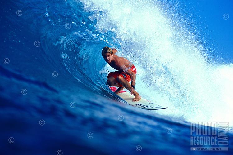 Ian Walsh surfing in Honolua Bay on Maui