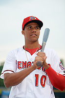 Harrisburg Senators Juan Soto (10) poses for a photo before a game against the New Hampshire Fisher Cats on May 12, 2018 at FNB Field in Harrisburg, Pennsylvania.  The game was postponed due to weather.  (Mike Janes/Four Seam Images)