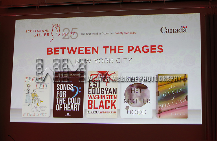 Atmosphere during the Scotiabank Giller Prize 25 Finalists: Between The Pages at the New Museum on November 7, 2018 in New York City.