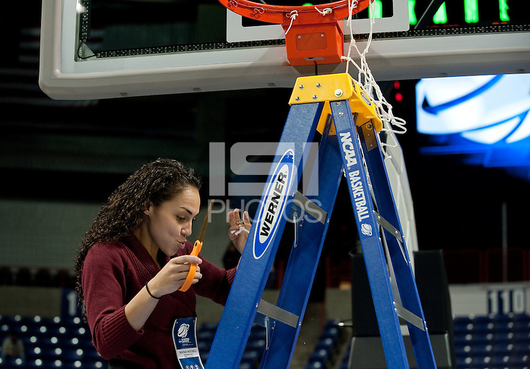 SPOKANE, WA - MARCH 28, 2011: Sha'Rae Mitchell, Stanford Women's Basketball vs Gonzaga, NCAA West Regional Finals at the Spokane Arena on March 28, 2011.