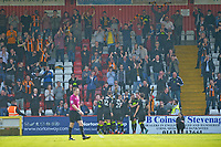 Barry Corr of Cambridge United scores the first Goal and celebrates during Stevenage vs Cambridge United, Sky Bet EFL League 2 Football at the Lamex Stadium on 14th April 2018