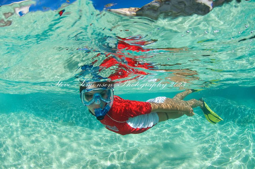 Split Level <br /> JeTaime Cerge snorkeling at The Baths<br /> Virgin Gorda<br /> British Virgin Islands