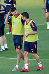 MADRID (24/05/09).- The Spanish Soccer national team has officially begun their hunt for the championship, arriving in the Madrid municipality of Las Rozas to begin preparing for South Africa World Cup.  Gerard Pique and Cesc Fabregas...PHOTO: Cesar Cebolla / ALFAQUI