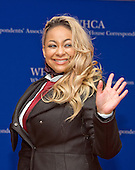 Raven- Symone arrives for the 2016 White House Correspondents Association Annual Dinner at the Washington Hilton Hotel on Saturday, April 30, 2016.<br /> Credit: Ron Sachs / CNP<br /> (RESTRICTION: NO New York or New Jersey Newspapers or newspapers within a 75 mile radius of New York City)