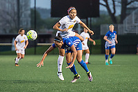 Allston, MA - Wednesday Sept. 07, 2016: Jaelene Hinkle, Kyah Simon during a regular season National Women's Soccer League (NWSL) match between the Boston Breakers and the Western New York Flash at Jordan Field.