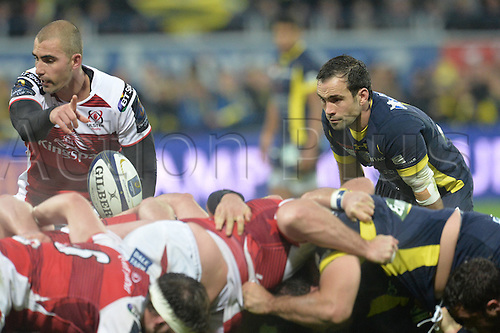 18.12.2016. Stade Marcel Michelin, Clermont-Ferrand, France. European Champions Cup Rugby. Clermont Auvergne versus Ulster.  Morgan Parra (asm)  waits for the scrum to form