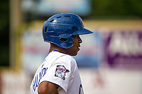 Byron Buxton (7) of the Chattanooga Lookouts looks on during a game between the Jackson Generals and Chattanooga Lookouts at AT&T Field on May 10, 2015 in Chattanooga, Tennessee. (Brace Hemmelgarn/Four Seam Images)