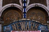 NEWARK, NJ - JANUARY 18: The Newark paramount theater marquee is pictured at downtown on January 18, 2018 in Newark, New Jersey. Amazon has released a shortlist for its much-anticipated second headquarters, with New York City and Newark, New Jersey, among the 20 locations that made the cut. (Photo by Eduardo MunozAlvarez/VIEWpress)