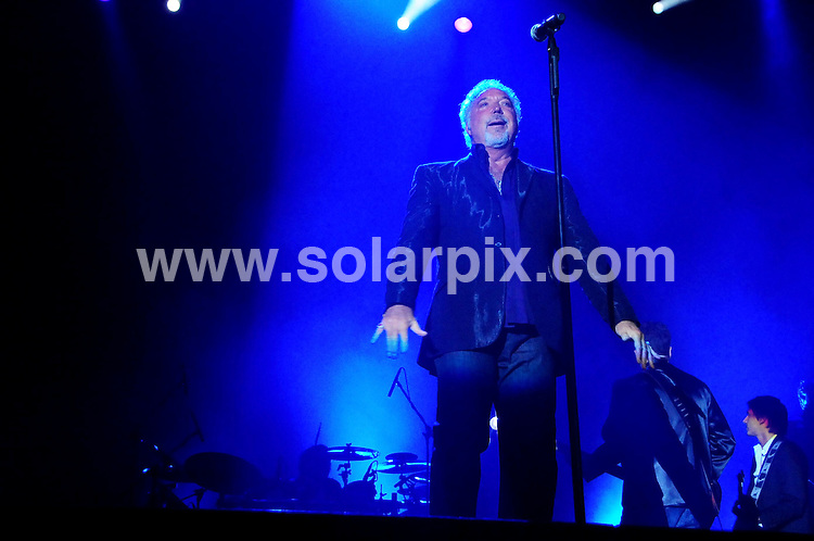 **ALL ROUND PICTURES FROM SOLARPIX.COM** **WORLDWIDE SYNDICATION RIGHTS EXCEPT USA, CANADA & ASIA**.Welsh crooner Tom Jones performs in concert at the Hong Kong Convention and Exhibition Centre as part of his asian tour, 10 years since his last concert there. Hong Kong. 24 March 2010..This pic: Tom Jones..JOB REF: 10975 HKW    DATE: 24_03_2010.**MUST CREDIT SOLARPIX.COM OR DOUBLE FEE WILL BE CHARGED**.**MUST NOTIFY SOLARPIX OF ONLINE USAGE**.**CALL US ON: +34 952 811 768 or LOW RATE FROM UK 0844 617 7637**
