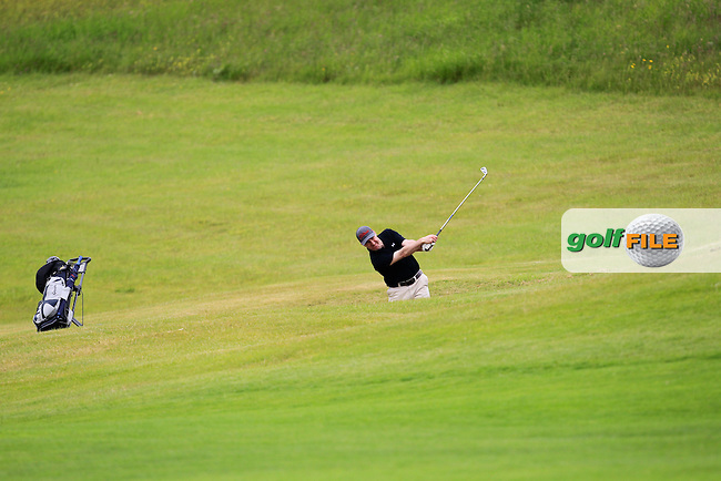 Michael Power (Moate) on the 15th fairway during Round 2 of the Irish Mid-Amateur Open Championship at New Forest on Saturday 20th June 2015.<br /> Picture:  Thos Caffrey / www.golffile.ie