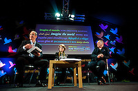 Thursday  29 May 2014, Hay on Wye, UK<br /> Pictured: ( L-R )  Erwin James, Vicky Pryce and David Wilson<br /> Re: The Hay Festival, Hay on Wye, Powys, Wales UK.
