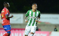 ITAGÜI - COLOMBIA - 19-11-2016: Arley Rodriguez, jugador de Atletico Nacional celebra el gol anotado a Deportivo Pasto, durante partido entre Atletico Nacional y Deportivo Pasto, por la fecha 20 de la Liga Águila II 2016 jugado en el estadio Ditaires de la ciudad de Itagüi. / Arley Rodriguez, player of Atletico Nacional celebrates a goal scored to Deportivo Pasto, during a match between Atletico Nacional and Deportivo Pasto, for the date 20 of the Aguila League II 2016 played at Ditaires stadium in Itagüi city. Photo: VizzorImage / León Monsalve /Cont.