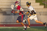 Mission Viejo, CA 05/11/11 - Nick Kos (Foothill-Santa Ana #13) and Chris Bauer (St Margaret #15) in action during the St Margaret-Foothill boys varsity lacrosse game at Mission Viejo High School for the 2011 CIF Southern Section South Division Championship.  Foothill defeated St Margaret 15-10.